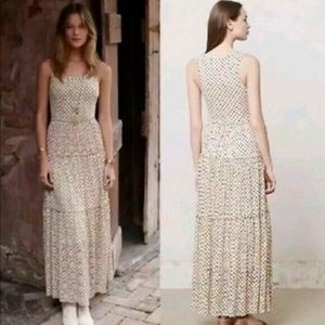 Anthro Meadow Rue Marigny Ivory Lace Maxi Sz M